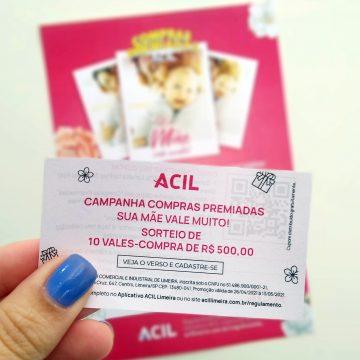 Compras Premiadas da Acil sorteará 10 vales-compra no Dia das Mães