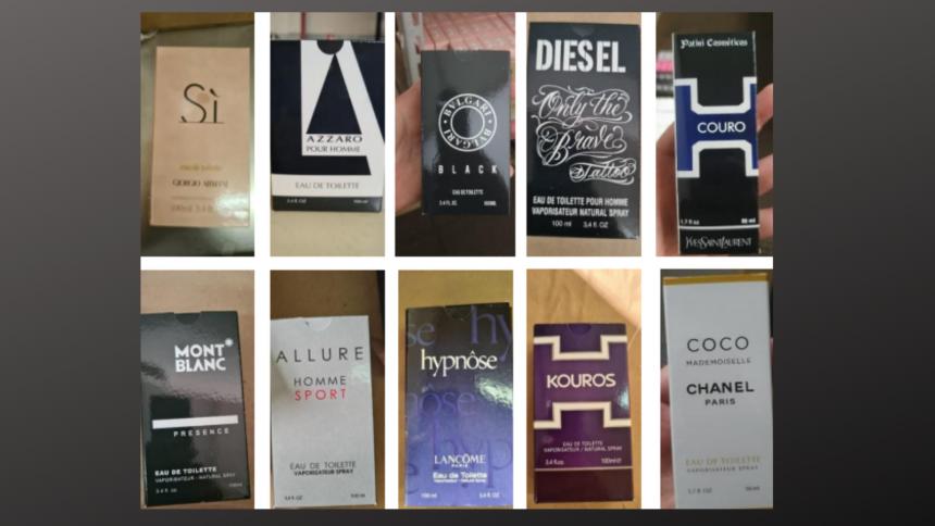 Polícia Civil junta ao processo resultado final de perfumes falsos: 2,6 milhões de itens