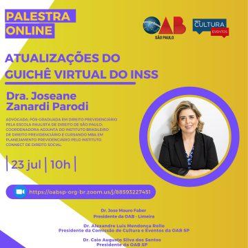 Guichê Virtual do INSS: advogados de Limeira são convidados para palestra on-line nesta sexta