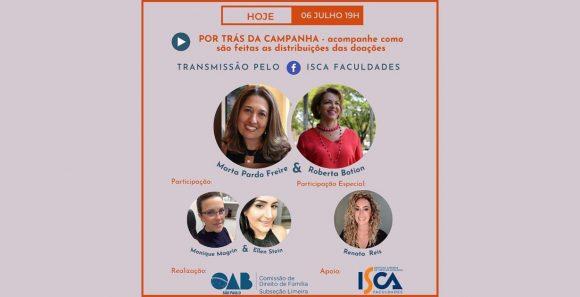 Live especial da OAB e Isca Faculdades mostra como funciona a campanha de agasalhos em Limeira