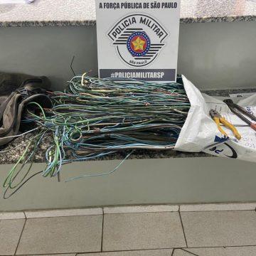 Acusado de furto de fios de energia é descoberto após ação desligar TV de vítima
