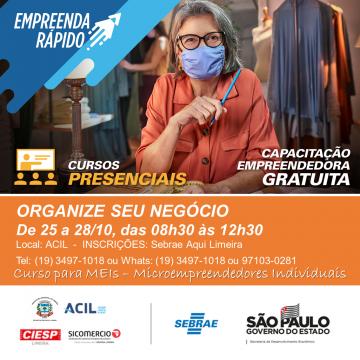 Capacitação gratuita em Limeira vai auxiliar empreendedor a organizar negócio