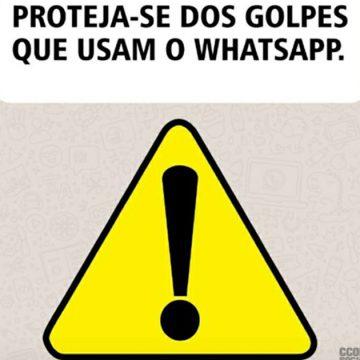 PM faz alerta com conteúdo ilustrado contra golpes via WhatsApp
